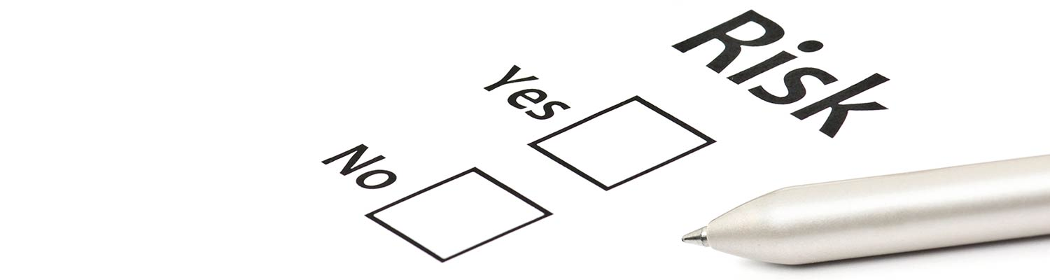 Risk checkbox with a pen